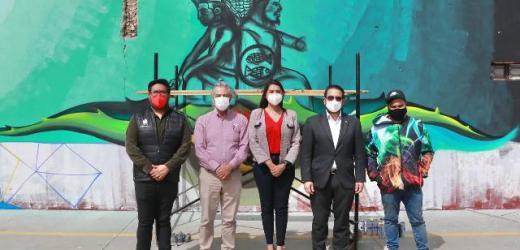 """PONE EN MARCHA ANGÉLICA ALVARADO LA REALIZACIÓN DEL MURAL """"IDENTIDAD HUEJOTZINGA"""" EN LA CABECERA MUNICIPAL"""