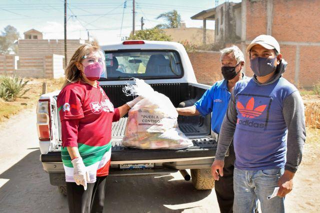 RECIBIERON FAMILIAS DE CORONANGO DESPENSAS DEL PROGRAMA ESTATAL PUEBLA CONTIGO