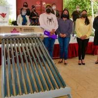 ENTREGA LUPITA DANIEL, CALENTADORES A 250 FAMILIAS DE ESCASOS RECURSOS EN CUAUTLANCINGO