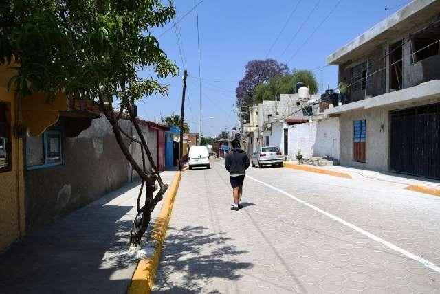 AYUNTAMIENTO DE PUEBLA MEJORA CALLES EN SAN JERÓNIMO CALERAS CON PRESUPUESTO PARTICIPATIVO