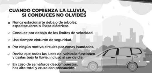 PROTECCIÓN CIVIL MUNICIPAL DE PUEBLA EMITE RECOMENDACIONES PARA EVITAR ACCIDENTES VEHICULARES POR TEMPORADA DE LLUVIAS 2021