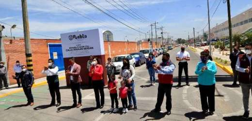 AYUNTAMIENTO DE PUEBLA REHABILITA ENTRADA PRINCIPAL A SAN FELIPE HUEYOTLIPAN