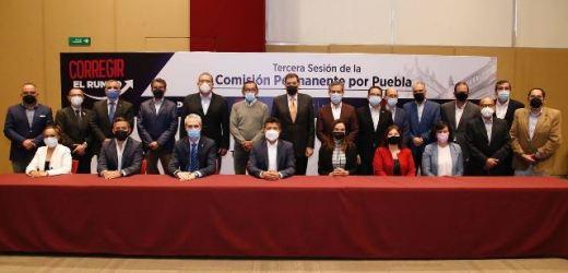 EDUARDO RIVERA PÉREZ ENCABEZÓ LA TERCERA SESIÓN DE LA COMISIÓN PERMANENTE POR PUEBLA