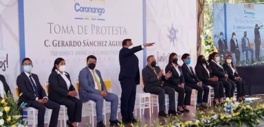 TOMA PROTESTA GERARDO SÁNCHEZ COMO PRESIDENTE MUNICIPAL DE CORONANGO