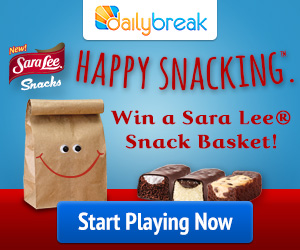 DailyBreak - Sara Lee- Win a Sara Lee Snack Basket