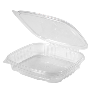 Clear Hinged Take-Out Container, AD16S – 50/CASE