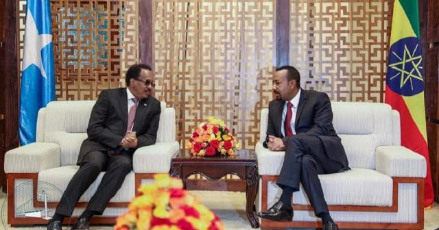 BILATERAL TALKS BRINGS SOMALIA PRESIDENT TO ETHIOPIA PRIME MINISTER