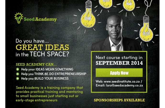 Seed Academy Training Open For Tech Entrepreneurs In South Africa