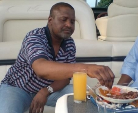 Dangote in a yatch Photo Credit: LIB