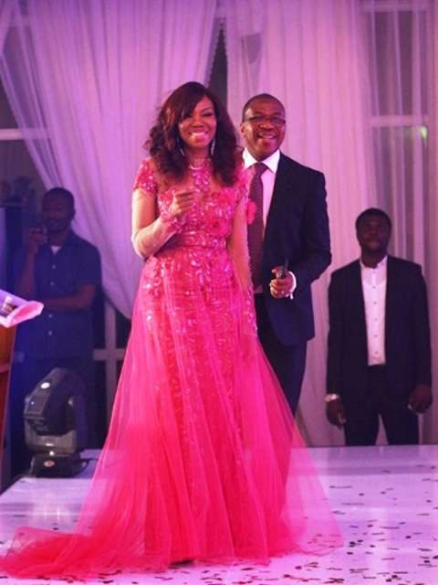 Betty and Soni Irabor at the 2014 Genevieve magazine Pink Ball annual charity event