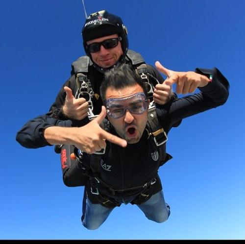 Mara Group founder Ashish Thakkar skydiving