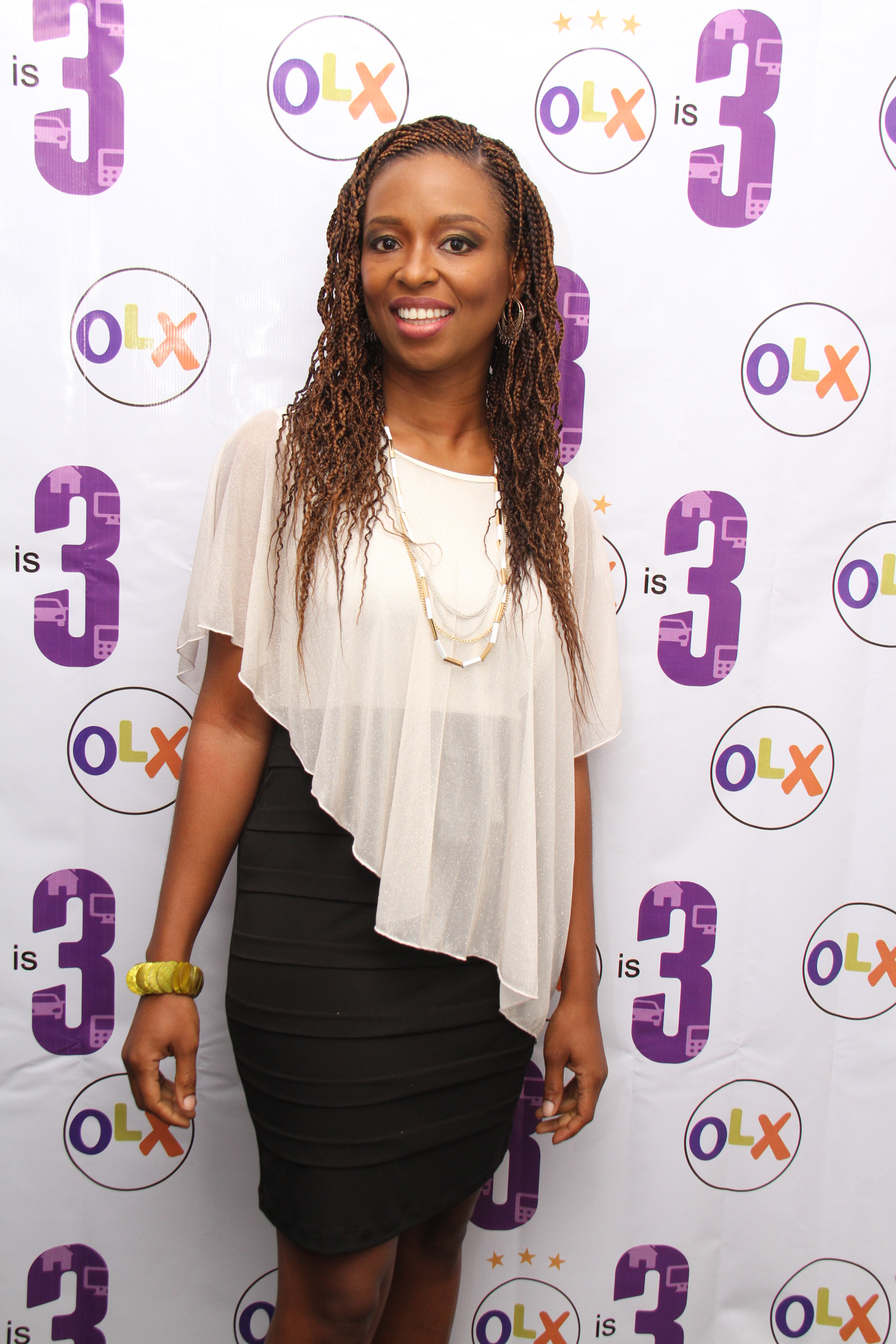Country Manager, Lola Masha on the red carpet