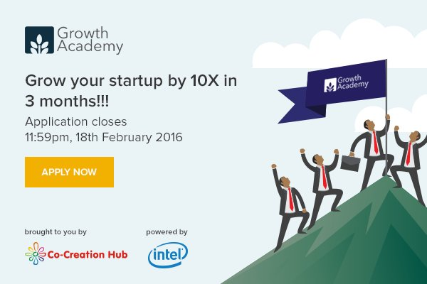 Tech startups: Apply to Intel's Growth Academy and grow your startup exponentially in 3 months