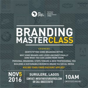 TFESS branding masterclass with Debola Williams is this Saturday