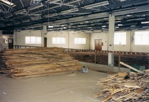 Interior of Enterprise House during the refurbishment
