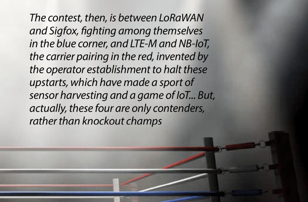 LPWA matchup | LoRaWAN vs Sigfox vs NB-IoT vs LTE-M: down