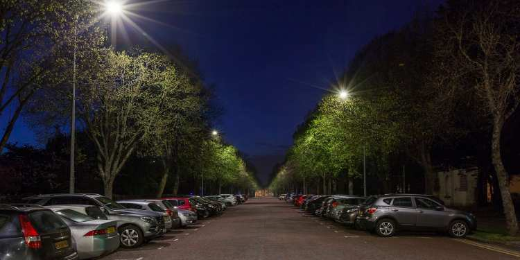 Cardiff – 18,000 streetlights upgrades, 24,000 to go (Image: Signify)