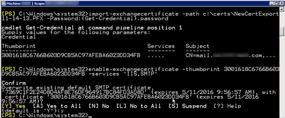 import-enable-exchangecertificate-2007