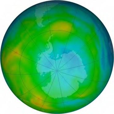 Juillet 2015 : Couche d'ozone en hiver austral