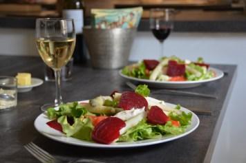 The salad we enjoyed