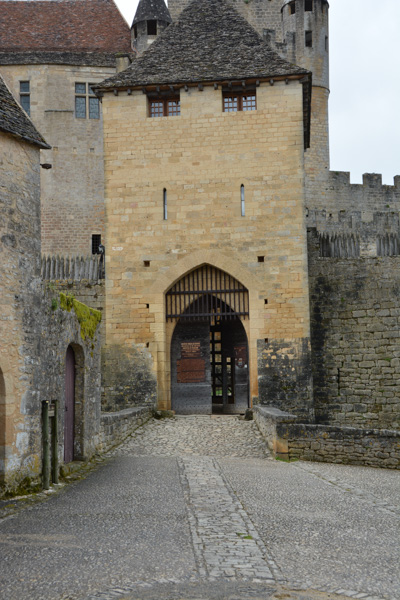 The entrance, complete with portcullis