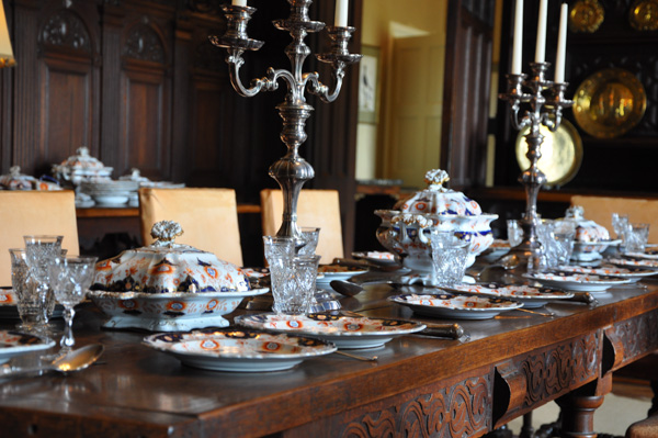 The Dining Table with featured porcelain