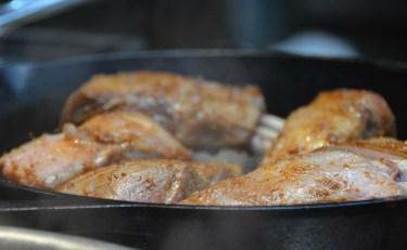 Sauté the double-cut lamb chops