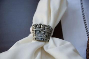 Apple basket napkin ring