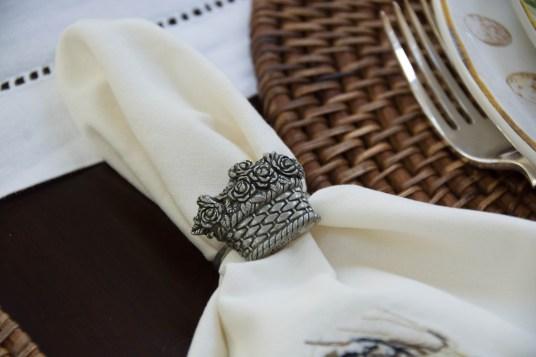 Flower Basket Napkin Ring