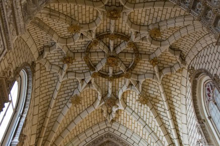 Detail of the chapel ceiling
