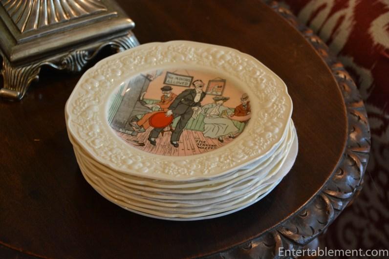 Crown Ducal Florentine English Pub plates