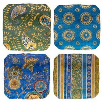 Exotic garden Tidbit Plates