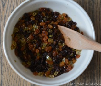 Soak the raisins and brandy overnight