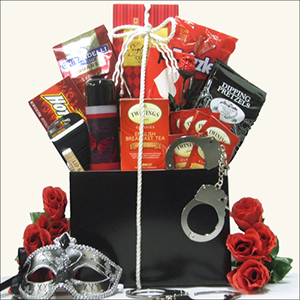 50 shades of grey gift basket