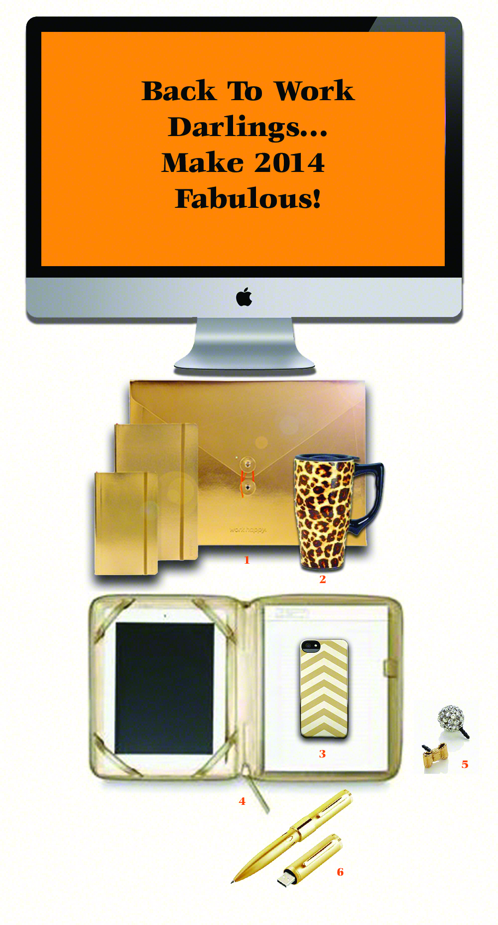 gold desk accesories for 2014