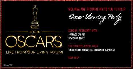 Oscar viewing party invitation
