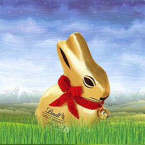 Gold Lindt chocolate easter bunny