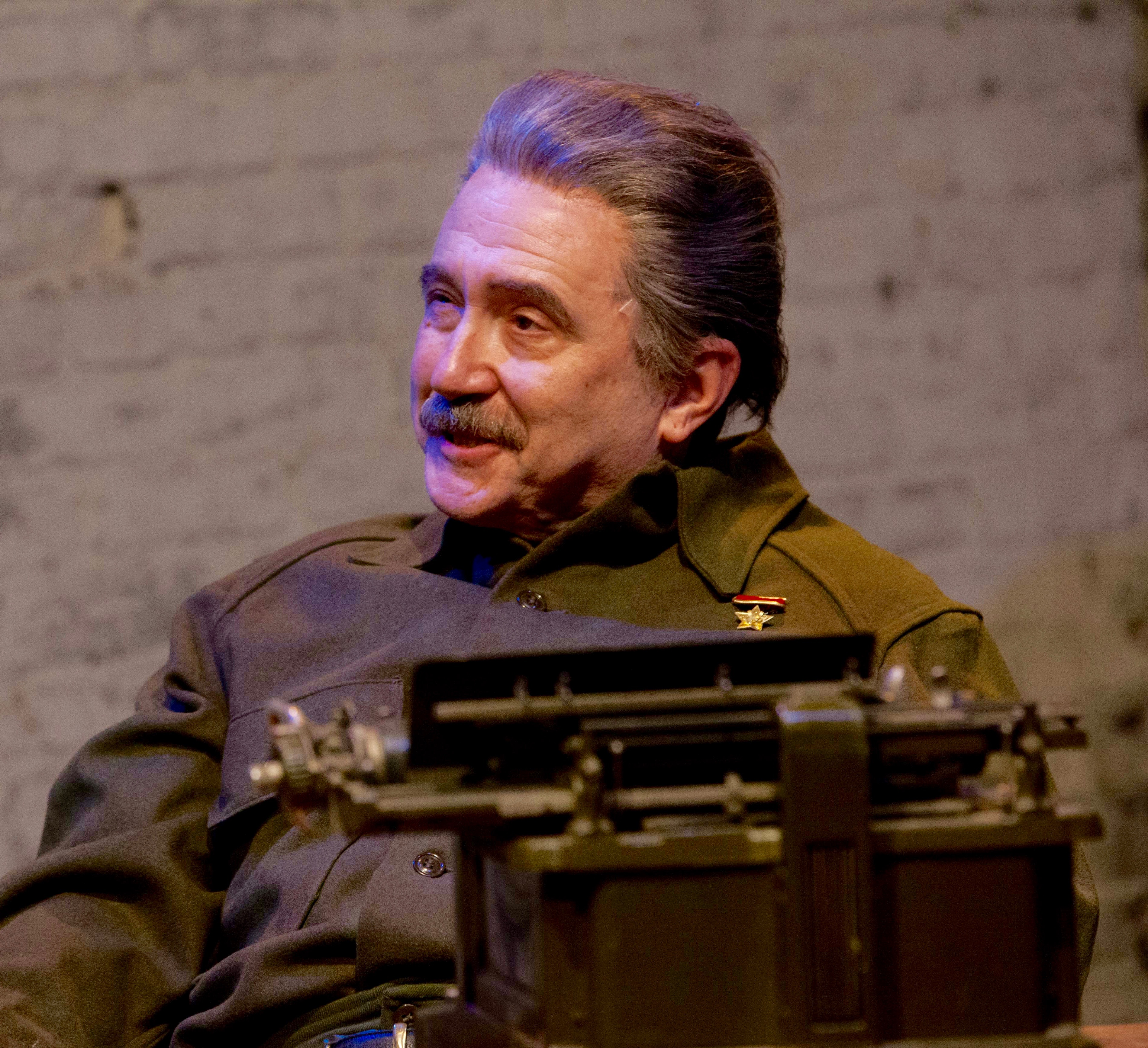 Martin Giles, who's played some creepy roles in his day, gets to creep with the creepiest as Joseph Stalin.