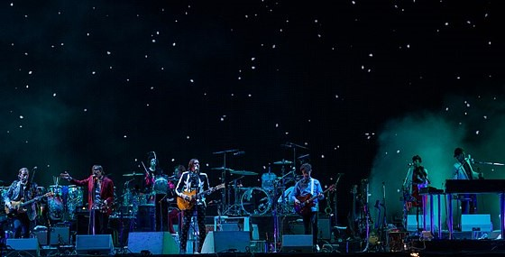 Arcade Fire performing in 2014. Photo: Andreas Meixensperger and Wikipedia.