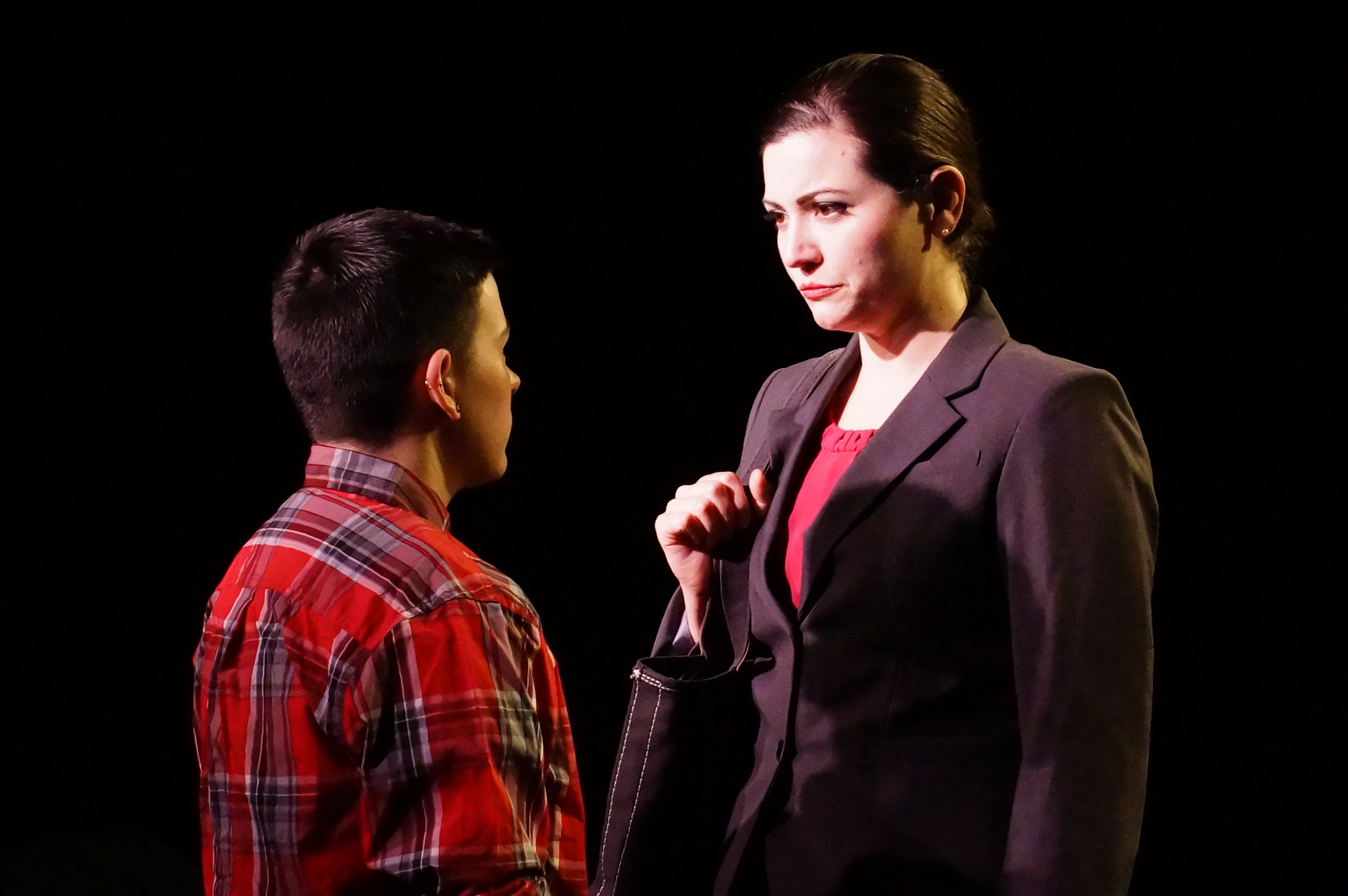 When Charlotte the censor (Maura Underwood, R) meets Nellis (Liam Ezra Dickinson), a subversive transgender artist, the battle of wits is a battle to behold.