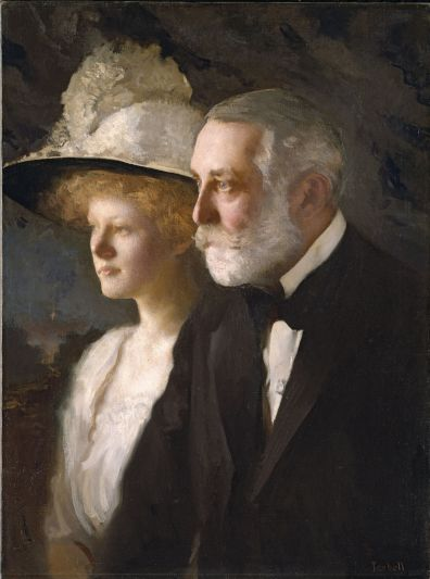 A formidable pair: Helen and Henry Clay Frick circa 1910. The painting, by Edmund C. Tarbell, is in the National Portrait Gallery in Washington, D.C.