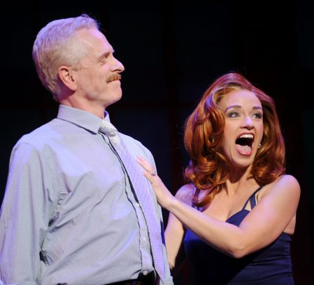 Even the ex-boss-man from the mill (John Hickok) intends to boogie with the boys. His vivacious wife (Sarah Uriarte Berry) can hardly believe it.
