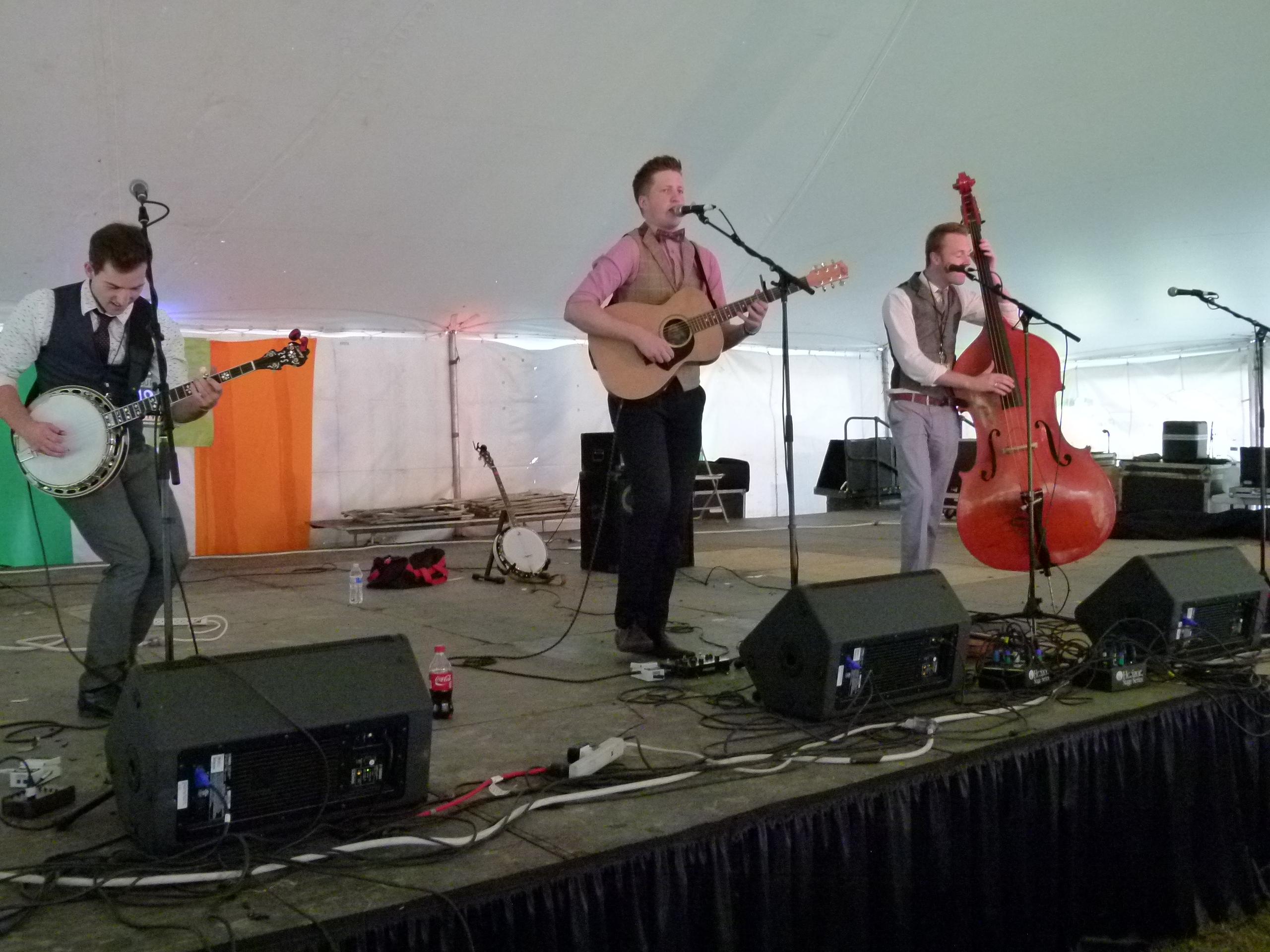 Jigjam performing on the Celtic Spirit Stage.