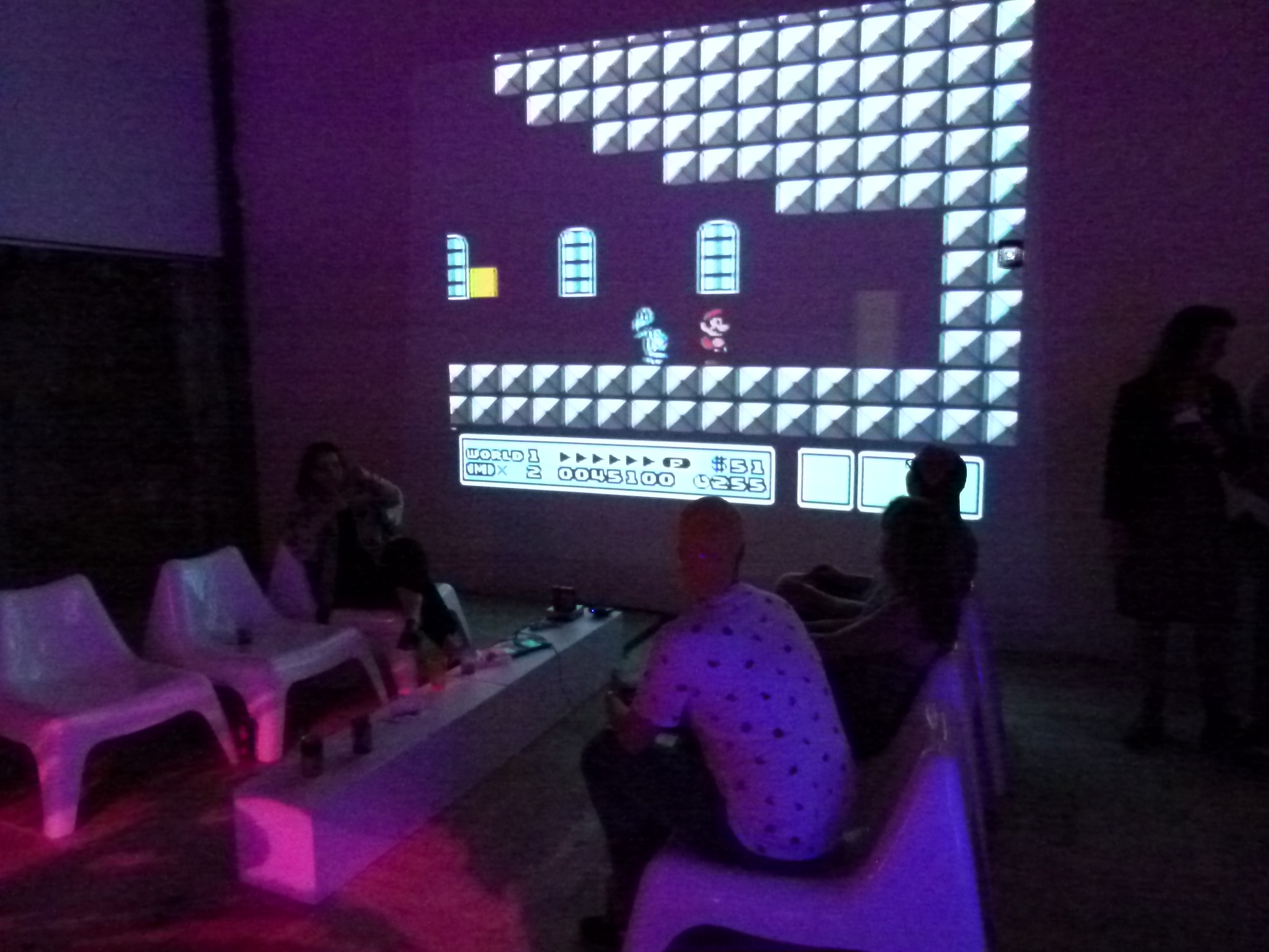 You could even play video games that were projected onto the wall.