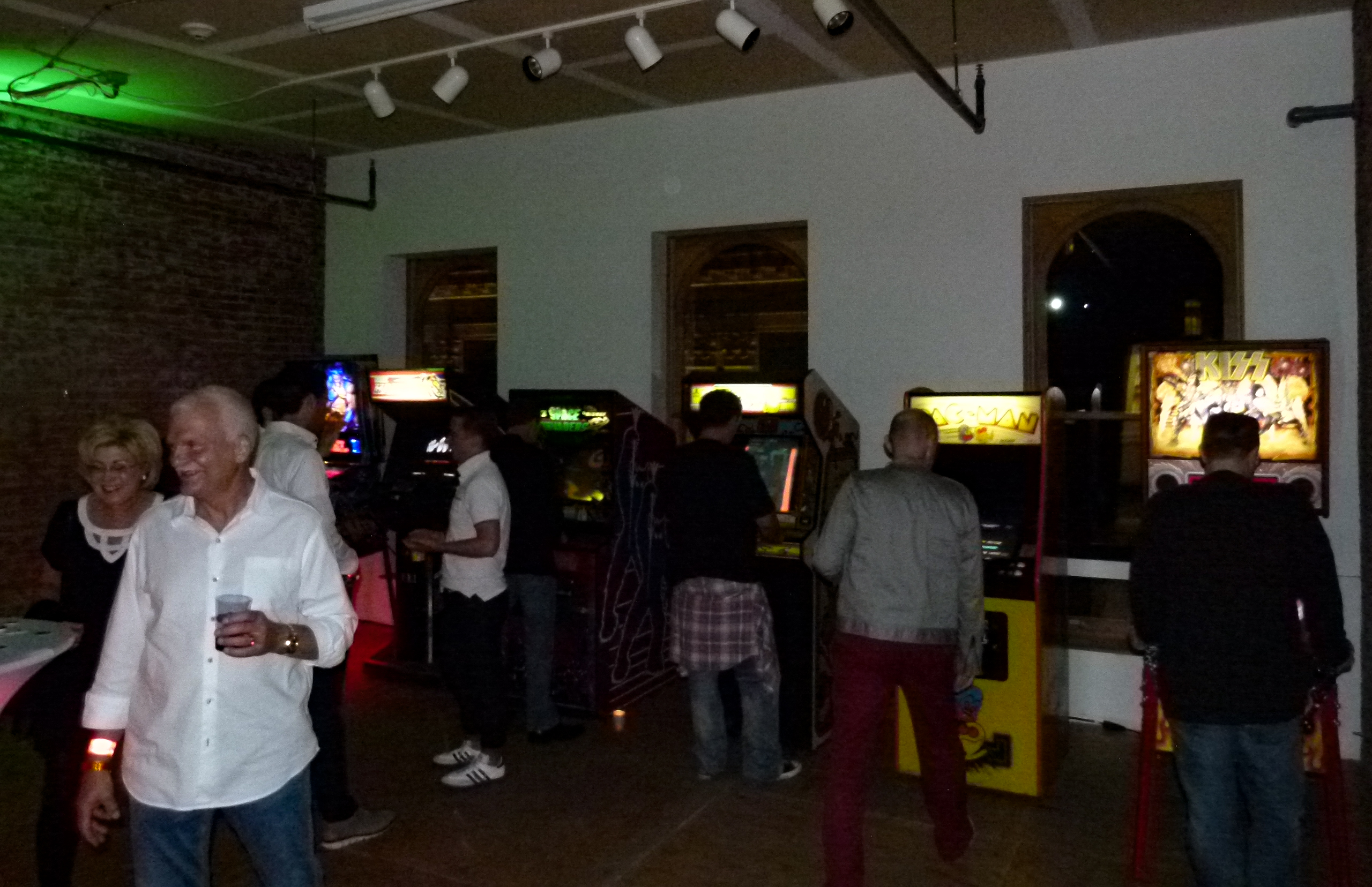 The pinball and arcade game room.
