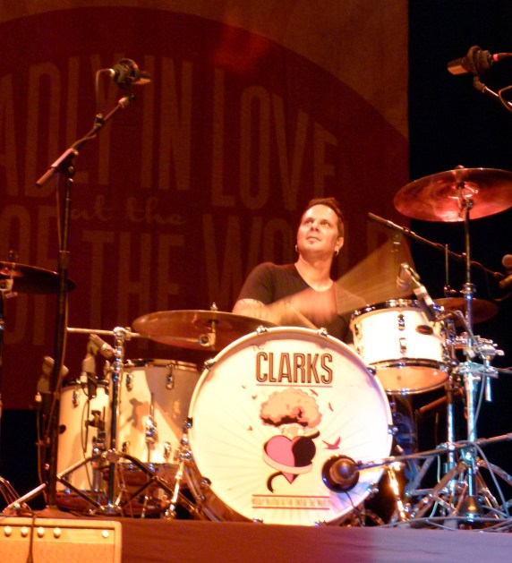 Dave Minarik often seems divinely inspired while playing his drums.