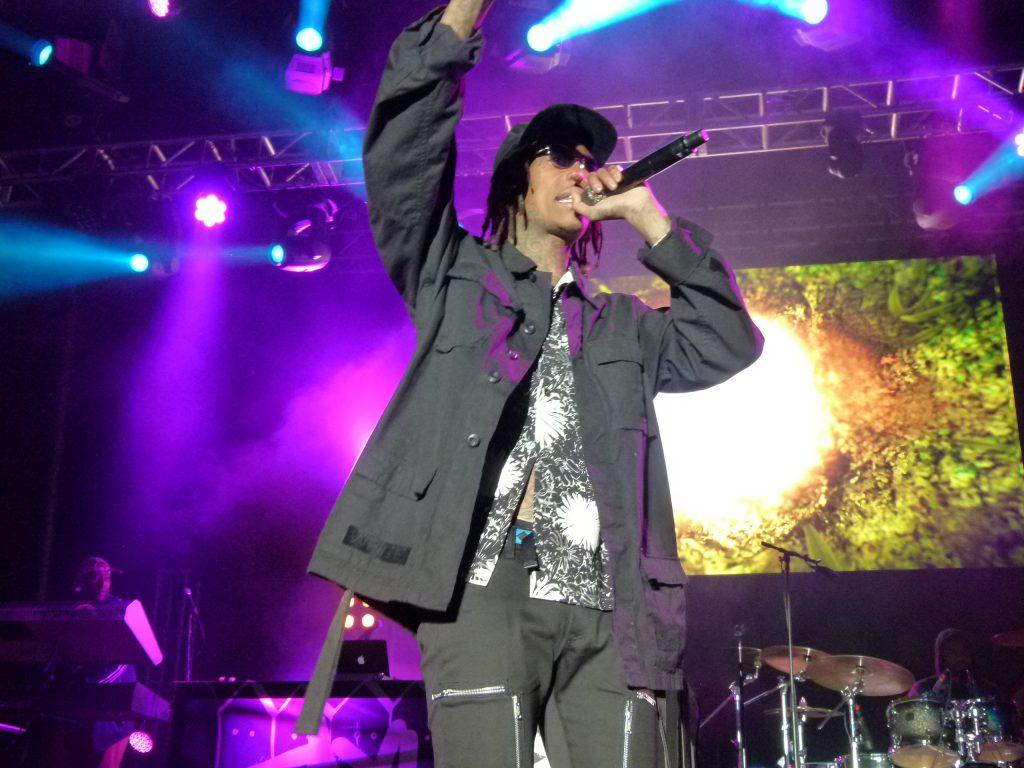 Khalifa in full rap mode.