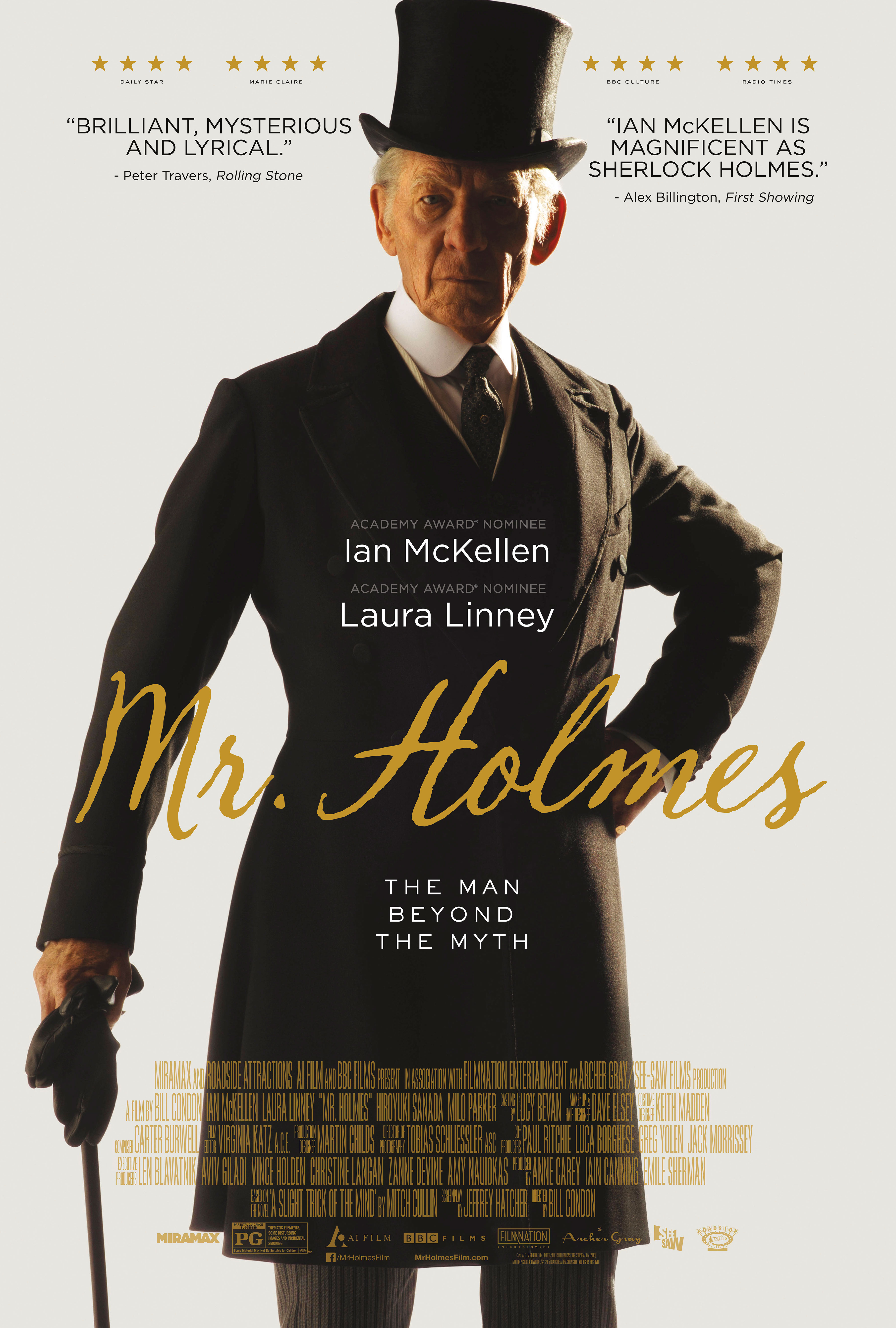 "'Mr. Holmes"" Movie Poster."