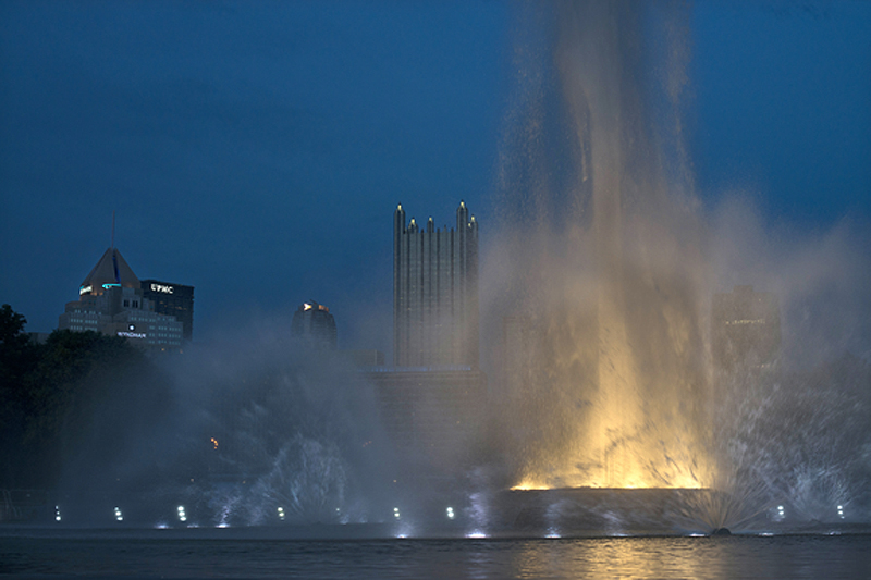 Fountain in Pittsburgh's Point State Park