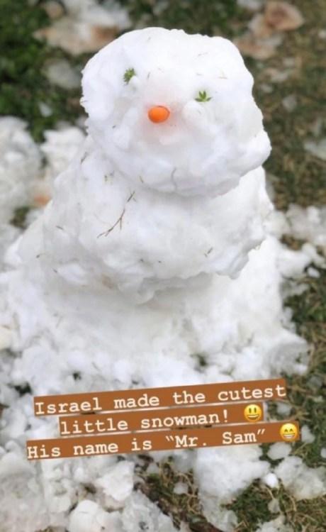 Counting On Jill Duggar Snowman Instagram